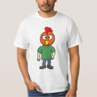 Crazy Chicken Dude Cartoon Graphic Men's T-Shirt