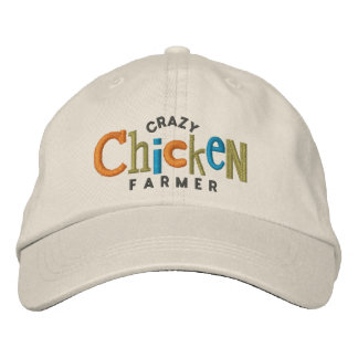 Crazy Chicken Farmer Embroidery Hat Embroidered Hats