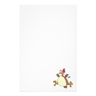 crazy chicken hen cartoon stationery paper