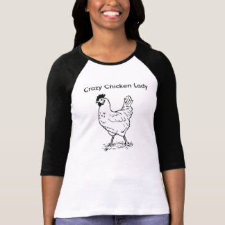 Crazy Chicken Lady 3/4 Sleeve Shirt