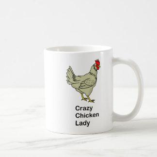 Crazy Chicken Lady Basic White Mug