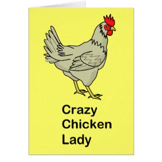 Crazy Chicken Lady Card