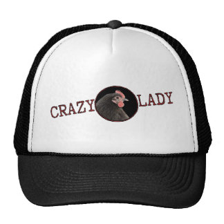 Crazy Chicken Lady Crooked Scribble Cap