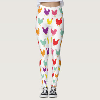 Crazy Chicken Leggings by Fluffy Layers