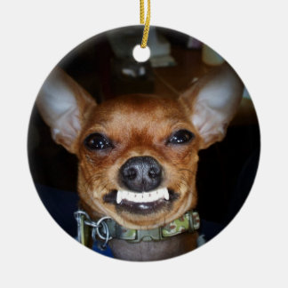 Crazy Chihuahua Christmas Ornament
