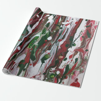 Crazy Christmas Abstract Wrapping Paper