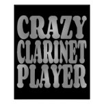 Crazy Clarinet Player in Silver