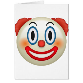 Crazy Clown Emoji Card