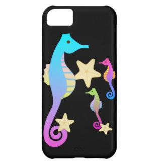 Crazy Colored Sea Horses iPhone 5C Case