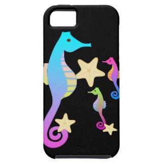 Crazy Colored Sea Horses iPhone 5 Cases