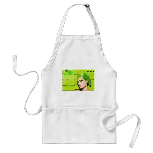 crazy_colors_1 Green Fashion Model beauty style Apron