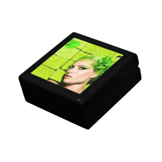 crazy_colors_1 Green Fashion Model beauty style Small Square Gift Box