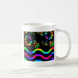 Crazy colors and shapes basic white mug