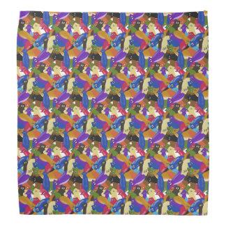 Crazy colourful cross eyed planarians bandana