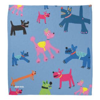 Crazy Colourful Dogs Bandana by John Dyer