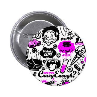 Crazy  Combo 6 Cm Round Badge