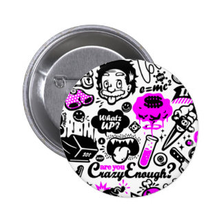 Crazy  Combo Pinback Buttons