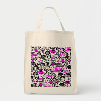 Crazy  Combo Grocery Tote Bag