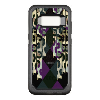 Crazy Cool Cheetah Triangle Pattern OtterBox Commuter Samsung Galaxy S8 Case
