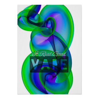 Crazy Cool Vape Cloud Abstract Posters