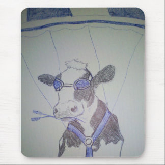 Crazy cow mouse mat