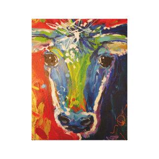 Crazy Cow Picture Canvas Print