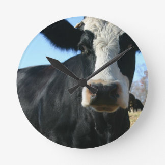 Crazy Cow Round Clock