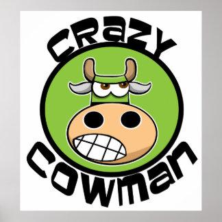 CRAZY COWMAN POSTER