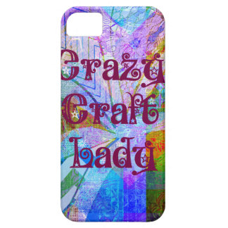 Crazy Craft Lady Blue Purple Butterfly Chevron Col iPhone 5 Cover
