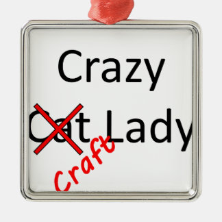 crazy craft lady .png christmas ornament