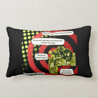 Crazy, Crazy, Crazy by Aleta Lumbar Cushion