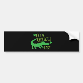 Crazy Crocodile Lady Bumper Sticker