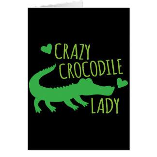 Crazy Crocodile Lady Card
