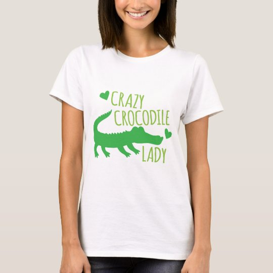 Crazy Crocodile Lady T-Shirt