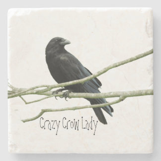 Crazy Crow Lady Coaster Stone Beverage Coaster