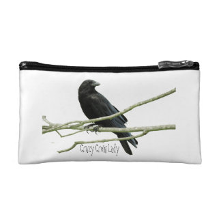 Crazy Crow Lady Cosmetics Bag Makeup Bag