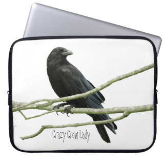 Crazy Crow Lady Laptop Sleeve