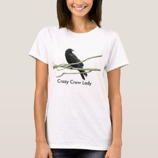 Crazy Crow Lady T-shirt