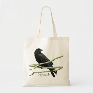 Crazy Crow Lady Tote Budget Tote Bag