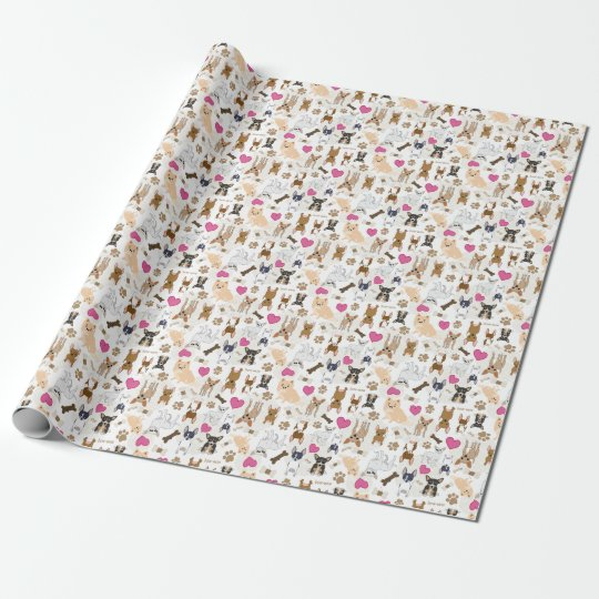 Crazy Cute Chihuahua Dogs Pack Personalised Wrapping Paper