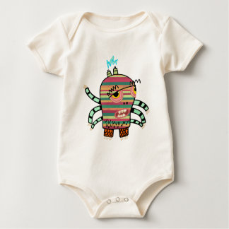 Crazy Cute Six-Armed Panic Monster Baby Bodysuit