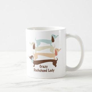 Crazy Dachshund Lady Mug