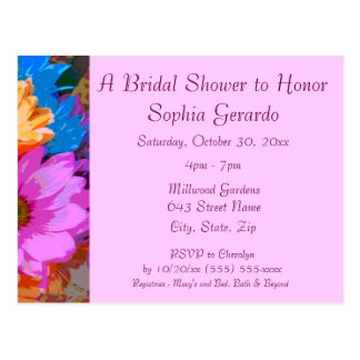 """Crazy Daisies"" (1) - Bridal Shower Invitation Postcard"