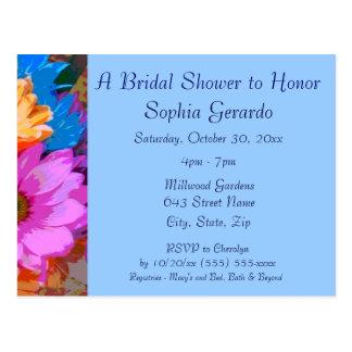 """Crazy Daisies"" (1) - Bridal Shower Invitation Postcard"