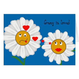 Crazy Daisy Crazy in love! card