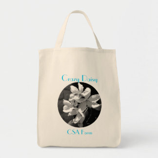 Crazy Daisy Grocery Grocery Tote Bag