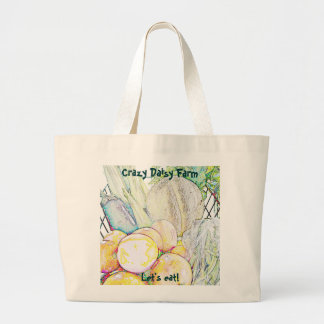 Crazy Daisy 'Let's Eat!' Jumbo Tote Bag