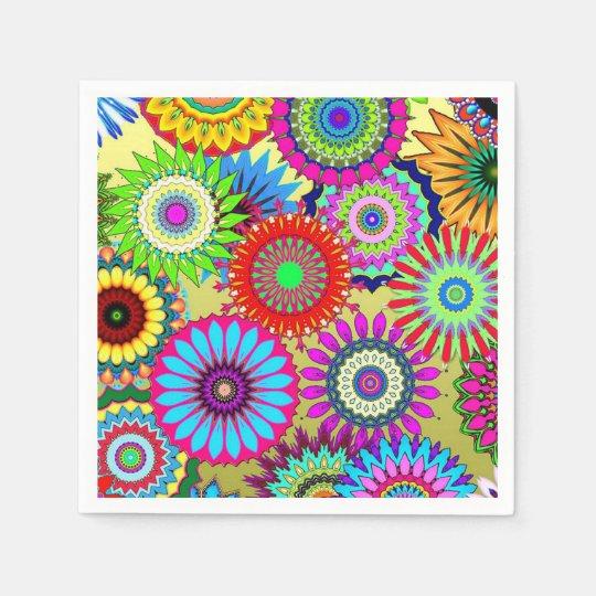 Crazy Daisy Pattern Design Paper Napkins