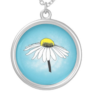 Crazy Daisy Sterling Silver Necklace
