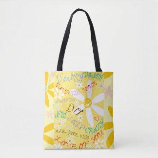 Crazy Daisy Tote Bag
